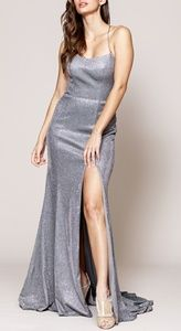 Glitter formal prom homecoming evening dress
